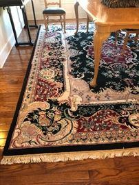 Oriental area rug, 9 x 12