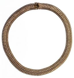 10k Gold Woven Necklace