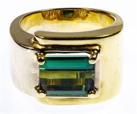 14k Gold and Gemstone Ring