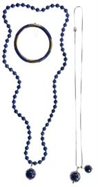 14k Gold and Lapis Lazuli Jewelry Assortment