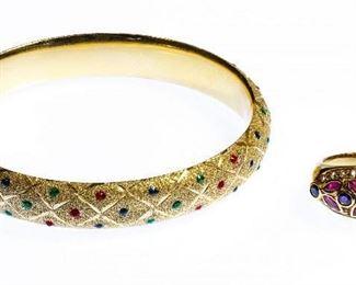 14k Gold and Semi Precious Gemstone Jewley Assortment