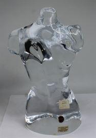 A Loredano Rosin Glass Torso Sculpture th