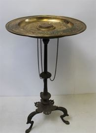 Antique Continental Patinated And Gilt Metal Tazza