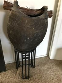 Clay Pot on Stand