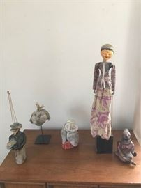 Four Sculptures and a Marionette