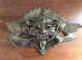 Large Metal Asian Sculpture