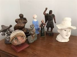 Woods and Clay Sculptures