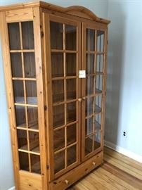 "Pine cabinet 53""Wide X 15""deep X 78""Tall $300 Reduced to $200"