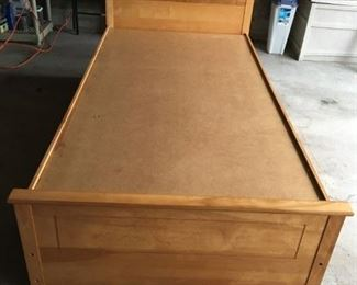 Twin size bed with 3 drawers. $100