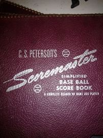 Baseball score books