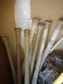Old baseball bats