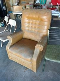 Funky old leather chair