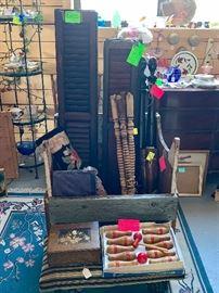 Shutters, Toys, Pottery, Dresser