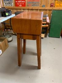 Small Butcher Block Table in Great Condition!