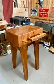 Beautiful butcher block table