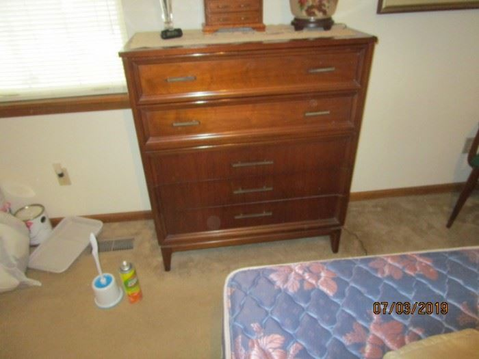 Mid-century modern Dixie chest of drawers