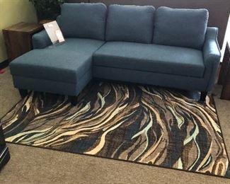 Sofa, Ottoman, & Area Rug