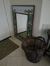 Vintage Mirror and Basket