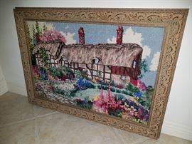 Framed Needlepoint Picture