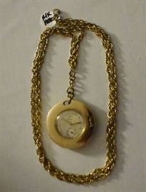 Movado 14 K Pendant Watch, Chain is GF