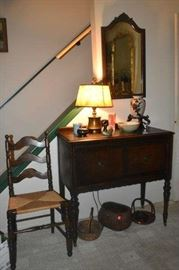 Antique Buffet, Rattan Chair, Antique Basket, Art Crafts Lamps, Asian Pottery, Pipe Cups, Duck