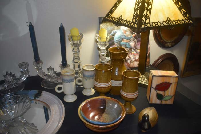 Roy Rogers Record, Vintage Candle Holders, Stoneware, Antique Lamp