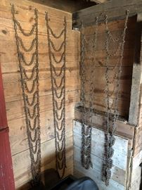 "Pair of 72"" and 66""  tractor tire chains"