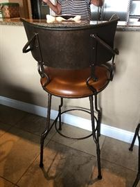 A PAIR OF STURDY, NICE BAR STOOLS