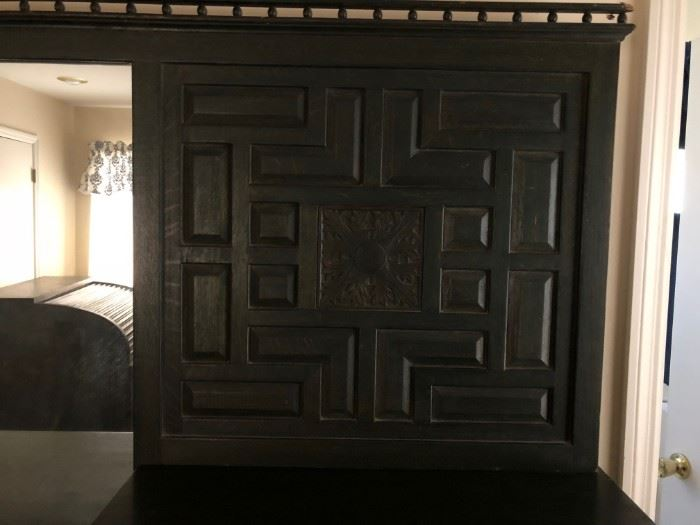 Wood Work to right of Dresser Mirror