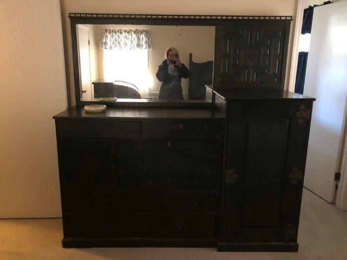 c. 1890's  Oak Dresser