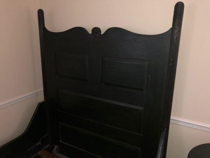 Antique Bed Frame Headboard