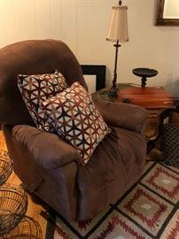 Swivel Rocker Recliner and Pillows