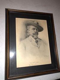 Buffalo Bill Etching