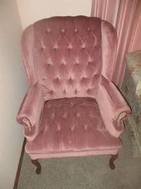 Pink wingback chair 2 of 2