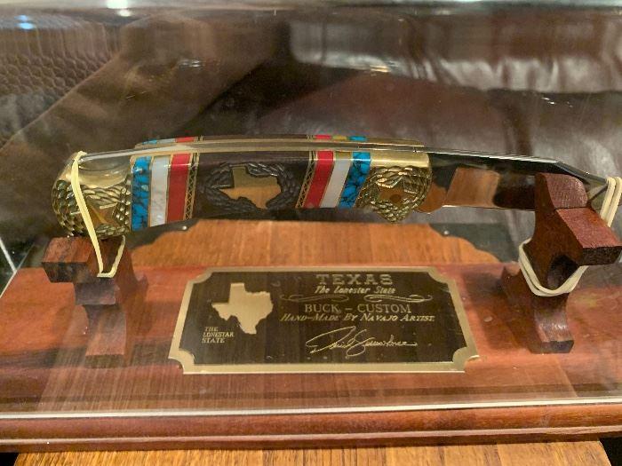 David Yellowhorse Custom made Navajo Texas Lonestar knife