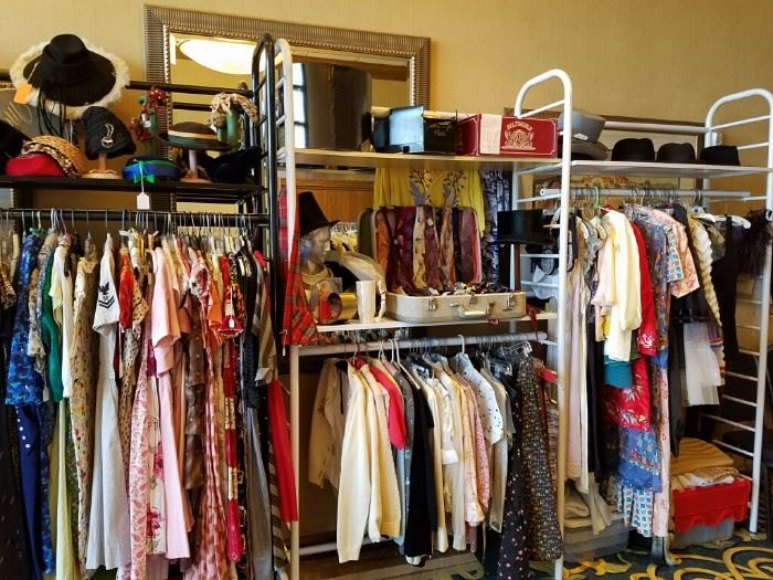 HUGE ARRAY OF VINTAGE CLOTHING FROM CLEVELAND ESTATES - 1900'S THRU THE 1980'S