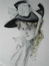 ORIGINAL 1900'S GIBSON GIRL PRINT