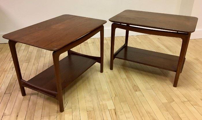 """VINTAGE """"MCM"""" END TABLES - PETER HVIDT & ORLA MOLGAARD - NIELSEN FOR FRANCE & DAVERKOSEN"""