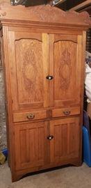 Oak China cupboard