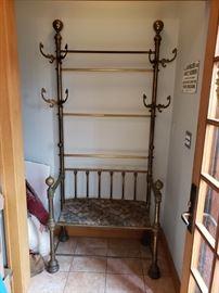 Victorian brass hall rack