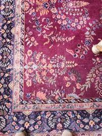 Floral oriental rug