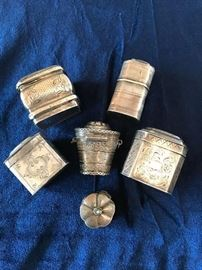 Dutch Silver Vinaigrette and pill boxes