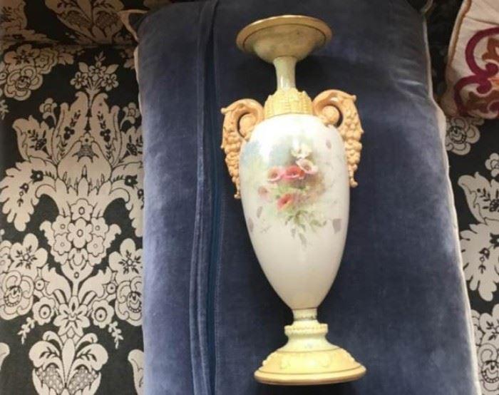 Ca. 1865 Royal Doulton Burslam Porcelain Urn Custom Piece