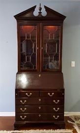 Stickley cherry Secretary Desk with Bookcase Top