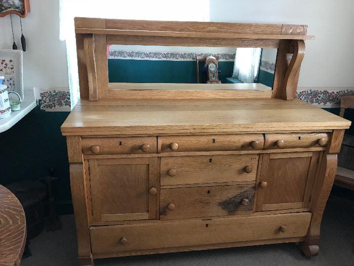 Large Antique oak sideboard