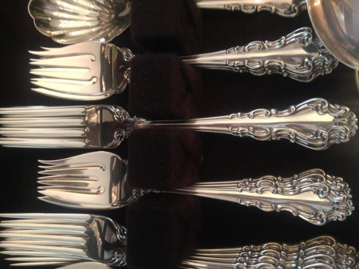 Reed and Barton  52 piece Sterling Siver set