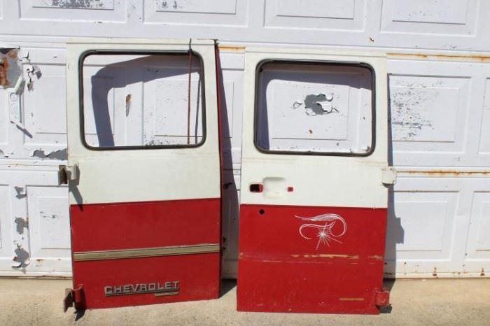 Vintage Chevy Truck Doors