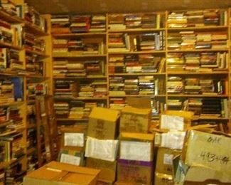 Lot's of hidden treasures.  Entire basement and garage   Come shop,  individual books  $1 to $2 each