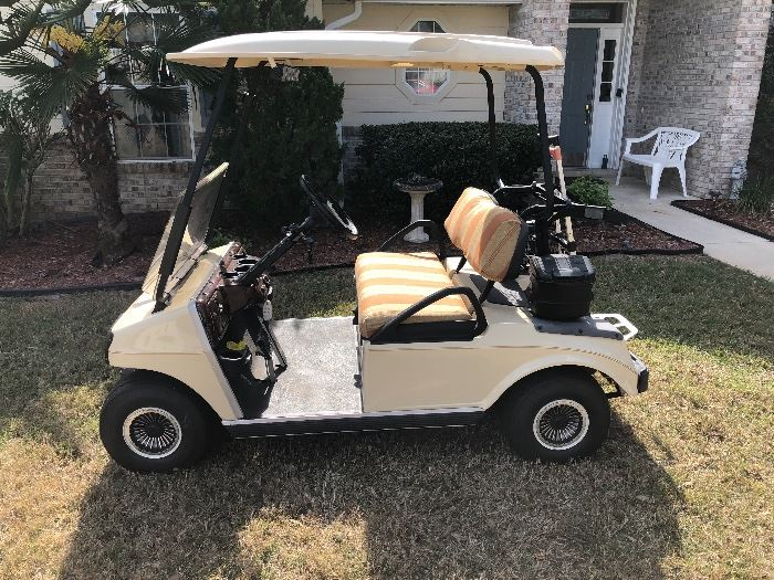 Club car 48 volt golf cart. Street Legal. Owner spent over $1,600 updating this golf cart JUST last year.