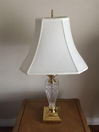 Beautiful crystal lamps.